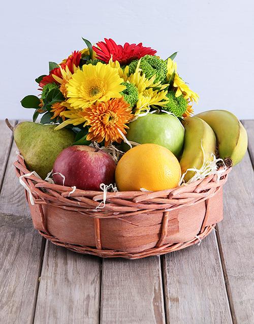 basket: Quaint Fruit and Flower Basket!