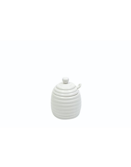 brands: Maxwell & Williams White Honey Pot With Spoon!