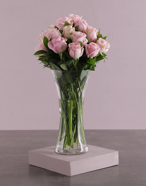 anniversary: Pretty Pink Rose Arrangement!