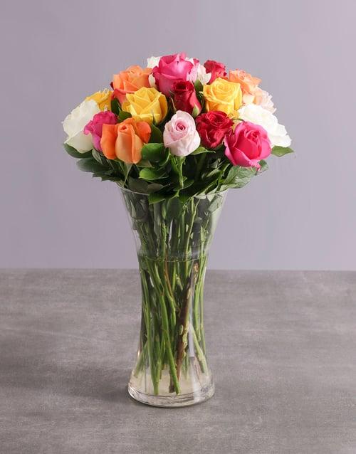 friendship: Mighty Mixed Rose Arrangement!