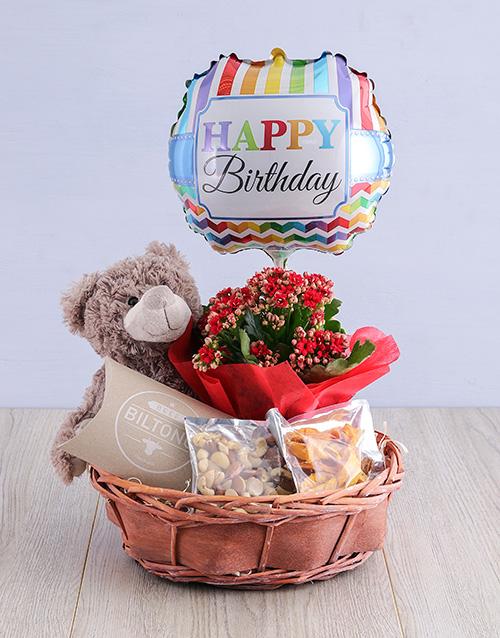 basket: Delightful Birthday in a Willow Basket!