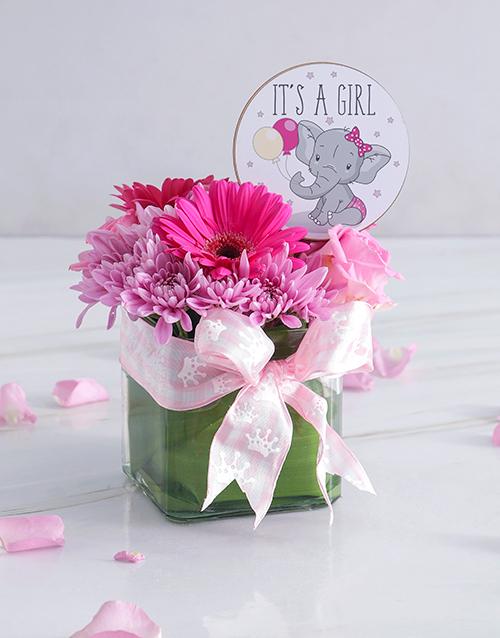 baby: Baby Girl Square Vase!