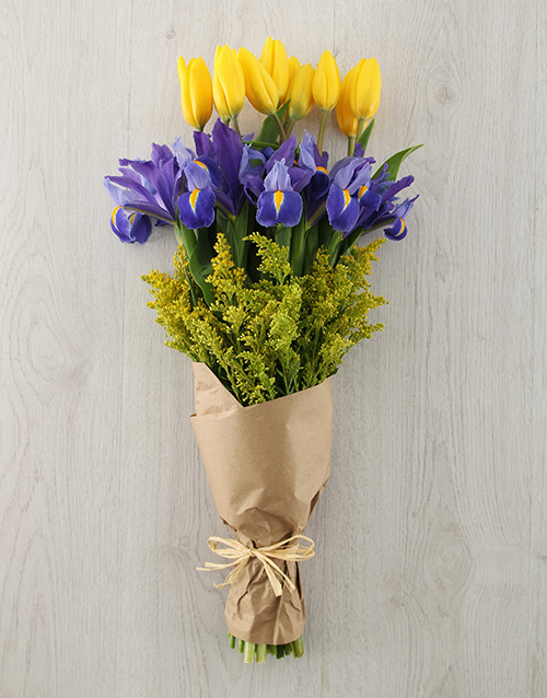 colour: Tulip and Iris Bouquet!