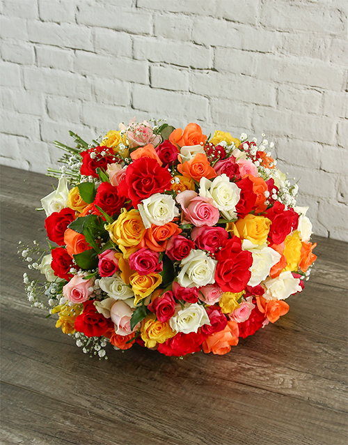 colour: Summer Splash Rose Bouquet!