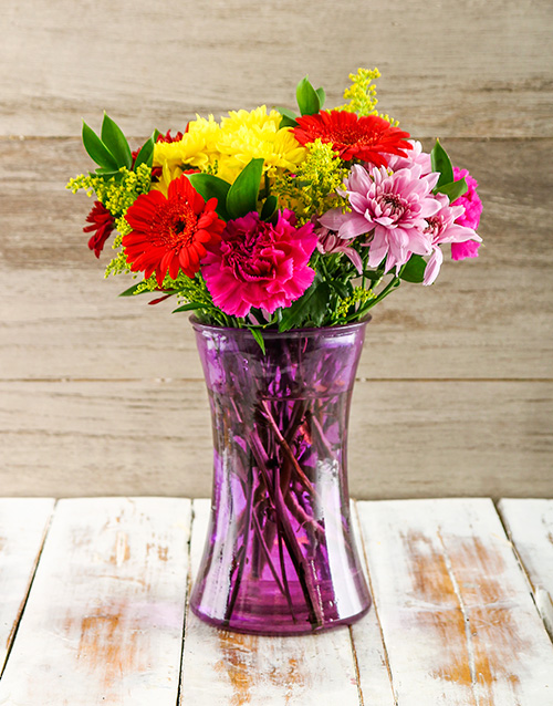 mixed: Vase of Mixed Purely Perfect Blossoms!