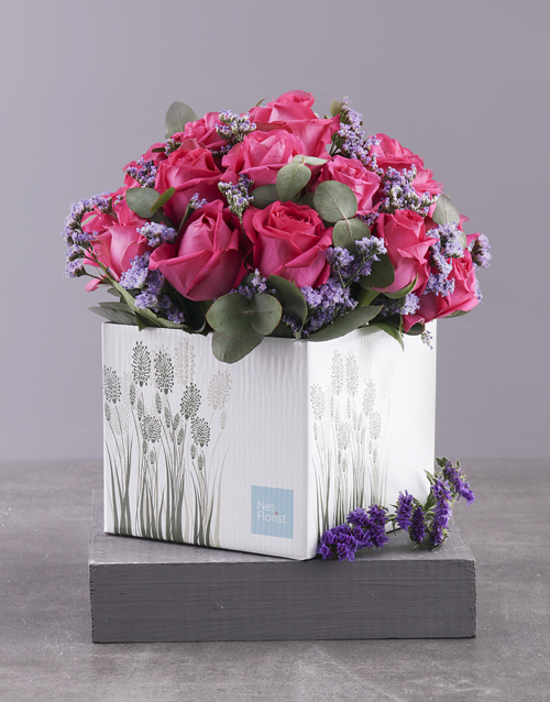 in-a-box: Lovely Cerise Rose Gift Box!