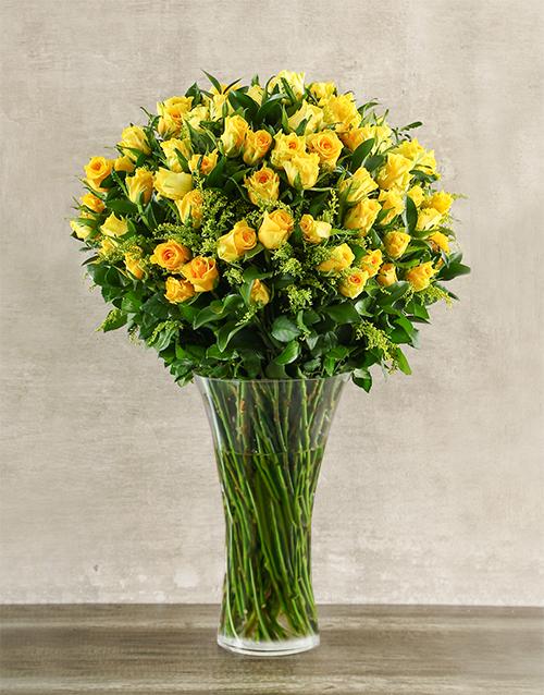 birthday: Yellow Rose Abundance!