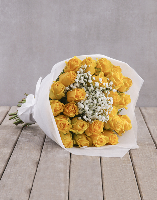 bouquets: Yellow Rose Bouquet in Wrapping!