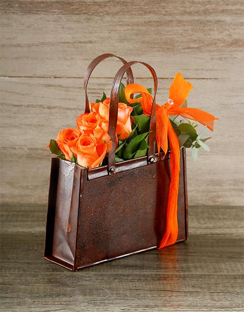 friendship: Orange Rose Handbag!
