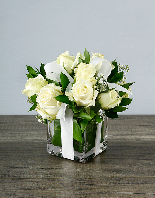 friendship: Small White Rose Surprise!