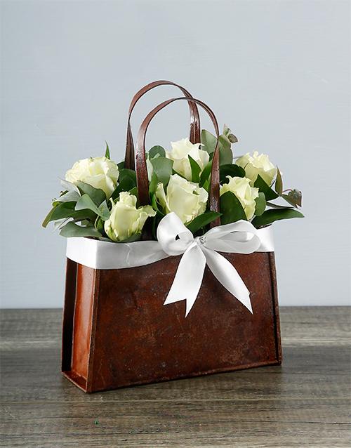 cyber-monday: White Rose Handbag!