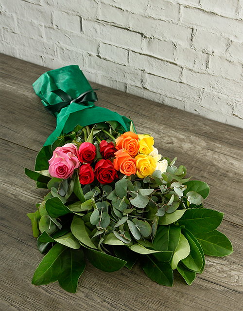 roses: Mystical Rainbow Roses in Tissue Paper!