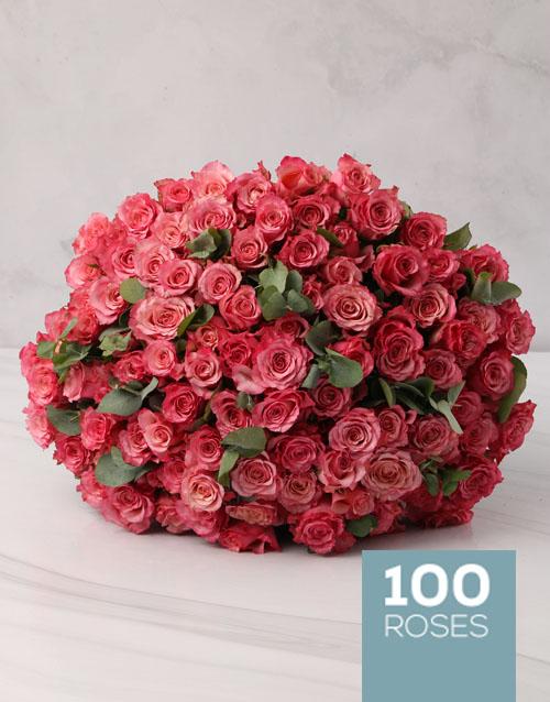 colour: Luscious Pink Rose Bouquet!