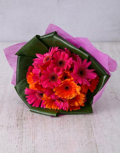 diwali: Ravishing Gerbera and Aspidistra Bouquet!
