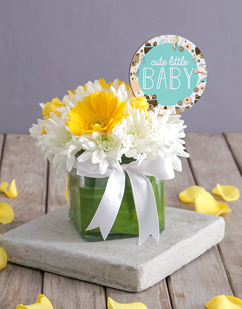 baby: Cute Little Baby Square Vase!
