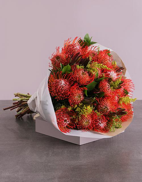 colour: Pincushion Protea Bouquet!