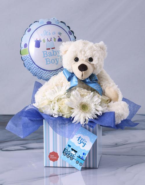 baby: Baby Boy Flower Gift Box!
