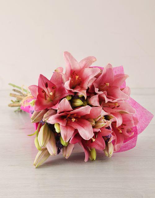 anniversary: Pink Asiflorum Lily Bouquet!
