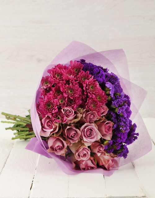 bouquets: Purple Rose and Spray Bouquet!