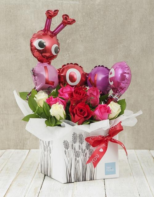 balloon: Caterpillar Love Box!