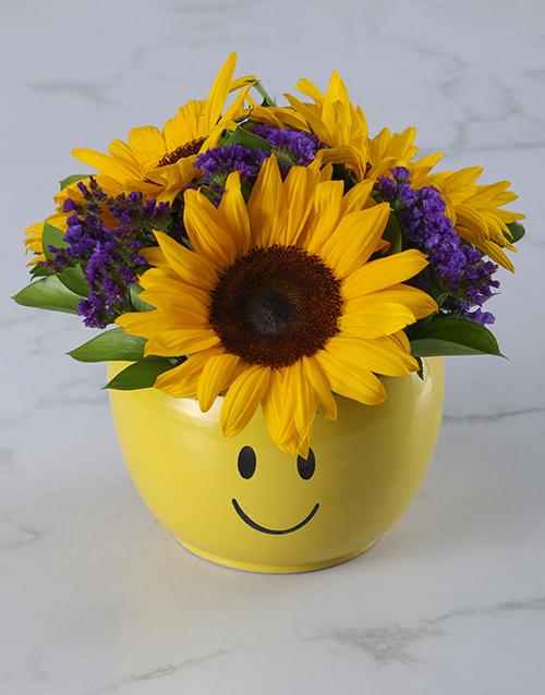 colour: Sunflower Smiley Pot!
