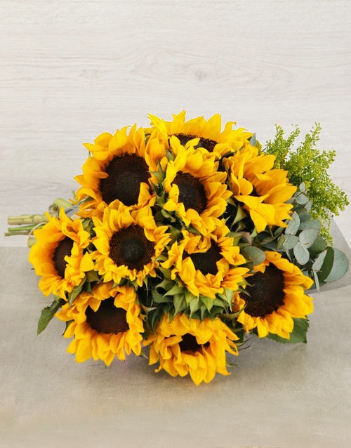bouquets: Sunflower and Goldenrod Bouquet!