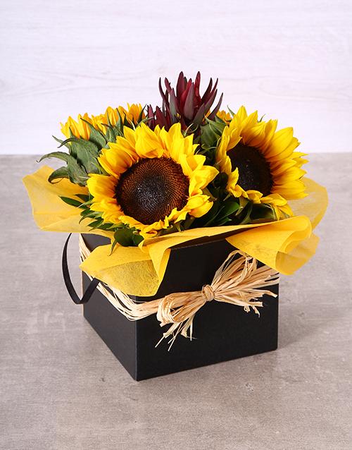 birthday: Elegant Sunflower Box!