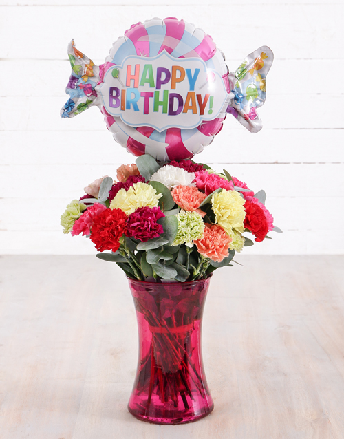 colour: Carnations and Birthday Balloon Treat!