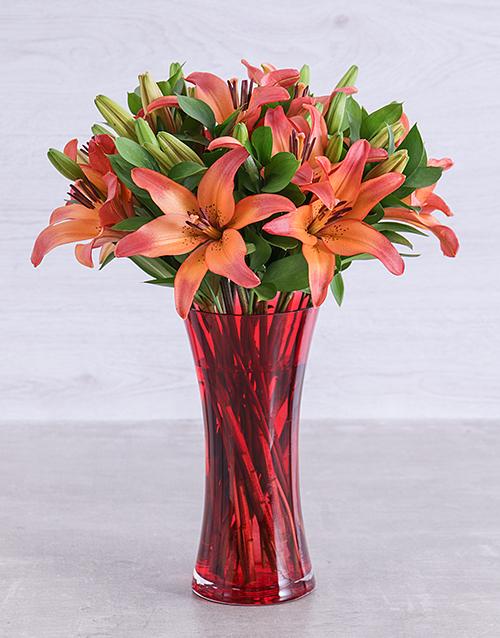 vase: Sunset Lily Vase!