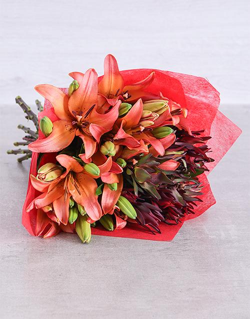 bouquets: Sunset Asiflorum Lily Surprise!