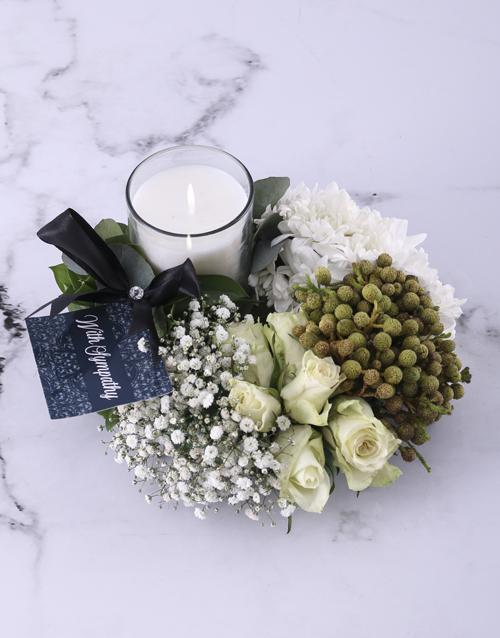 sympathy: Green and White Sympathy Wreath!