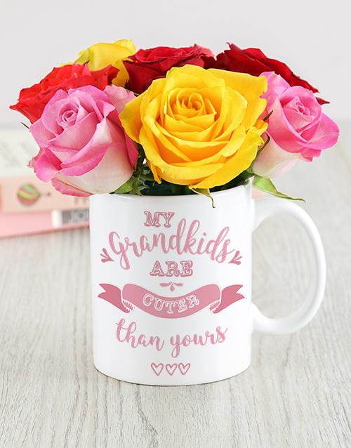 colour: Grandkids Mug Arrangement!