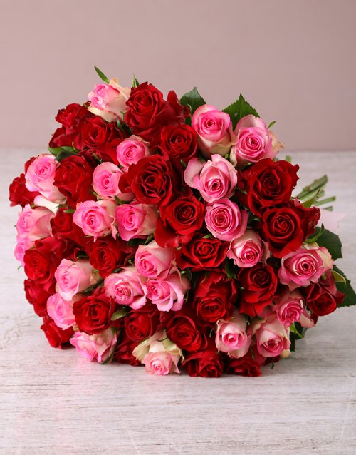 anniversary: Opulent Mixed Roses Bouquet!