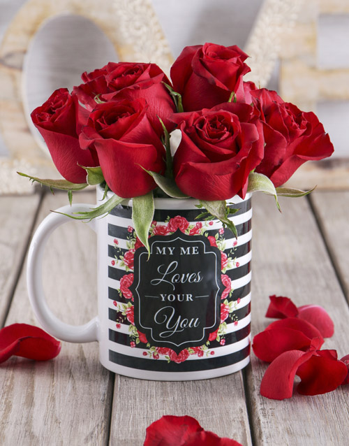 colour: Red Rose Love Mug!