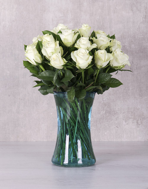 anniversary: White Majestic Rose Arrangement!