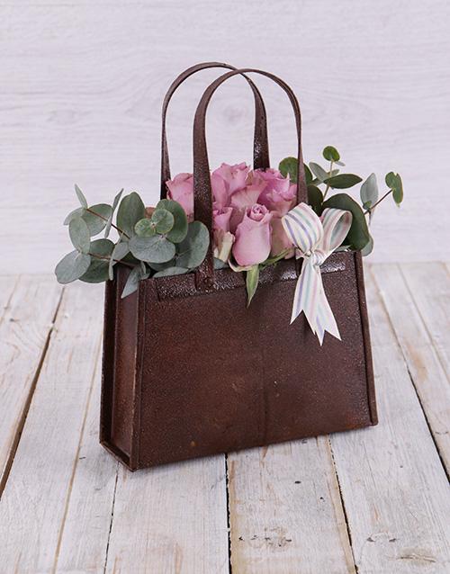 anniversary: Purple Rose Handbag!