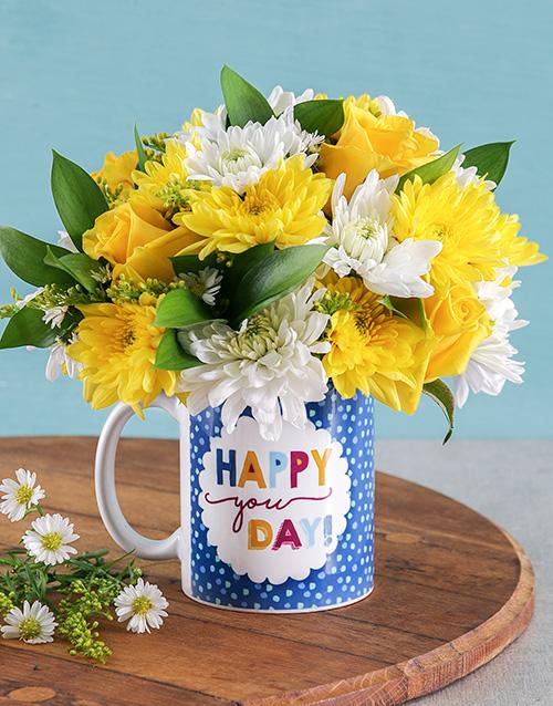 friendship: Happy You Day Flower Mug!