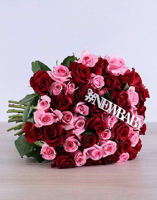 bouquets: New Baby Red and Pink Roses!