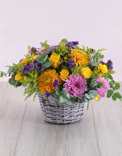 colour: Mix It Flowers in Basket!