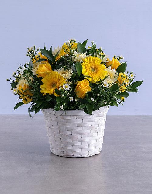 friendship: Shed Light Flowers in Basket!