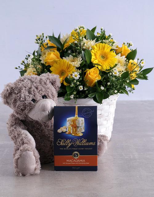 basket: Golden Flower Hamper!