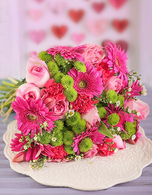 colour: Pink Flower Power Bouquet!