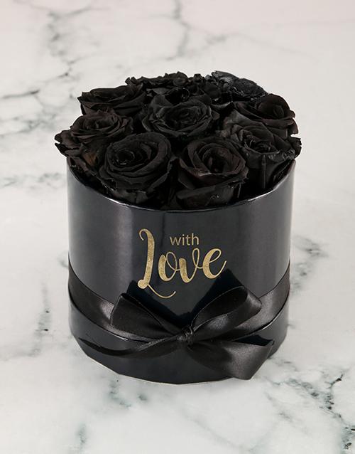 roses: Preserved Black Roses In Black Box!