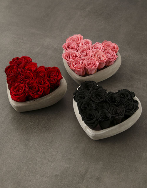 love-and-romance: Heart Of Preserved Roses!