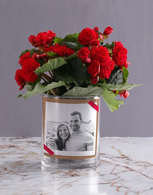colour: Personalised Begonia Love Photo Vase!