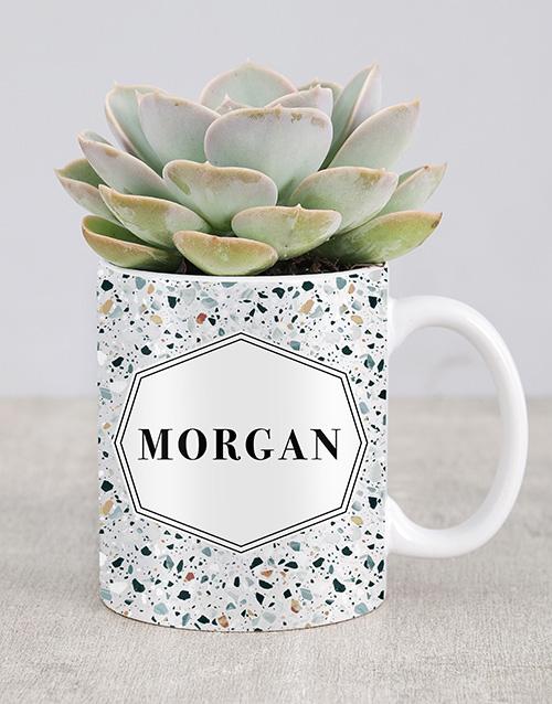 birthday: Personalised Succulent Named Mug!