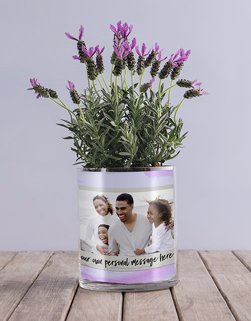 christmas: Personalised Lavender Message And Photo Vase!