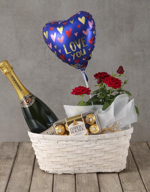 love-and-romance: Red Rose Bush Romantic Hamper!