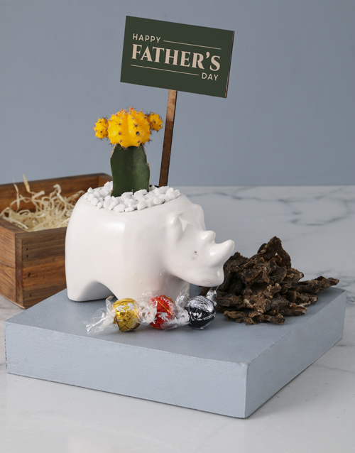 fathers-day: Special Message Animal Kingdom Pot Plant!