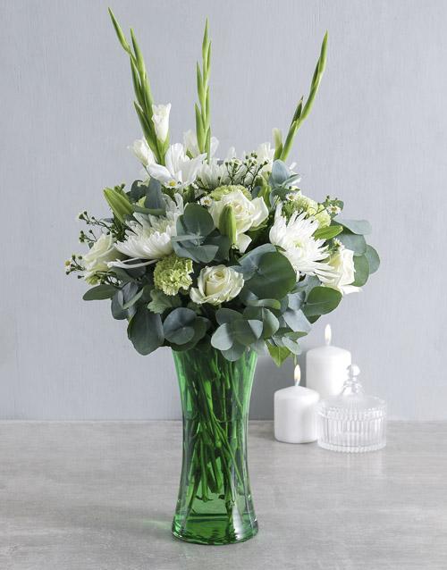 friendship: Serenity Flowers in Vase!